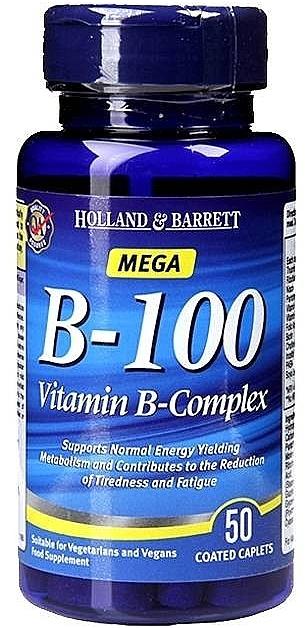 "Supliment alimentar ""Complex de vitamine B"" - Holland & Barrett Mega B-100 Vitamin B Complex"