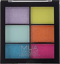 Parfumuri și produse cosmetice Paletă farduri de ochi - MUA Makeup Academy Professional 6 Shade Palette
