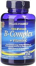 """Parfumuri și produse cosmetice Supliment alimentar """"Concentrația maximă a vitaminei B și C cu eliberare susținută"""" - Holland & Barrett Timed Release B Complex + Vitamin C"""