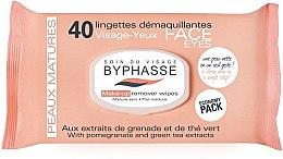 Parfumuri și produse cosmetice Șervețele demachiante - Byphasse Make-up Remover Pomegranate Extract And Green Tea