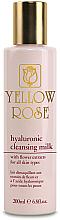 Parfumuri și produse cosmetice Lapte de curățare cu acid hialuronic - Yellow Rose Hyaluronic Cleansing Milk