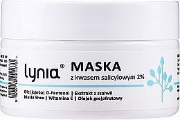 Parfumuri și produse cosmetice Mască de față, cu acid salicilic 2% - Lynia