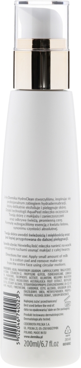Loțiune demachiantă - Dermika Hydro Clean Face&Eye Make-up Lotion — Imagine N2