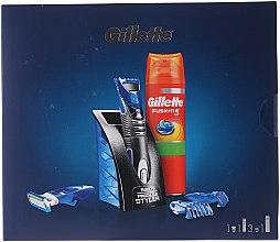 Parfumuri și produse cosmetice Set - Gillet Fusion (gel/200ml+styler)