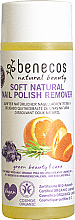 Parfumuri și produse cosmetice Soluție pentru îndepărtarea ojei, cu extract de portocală - Benecos Natural Nail Polish Remover