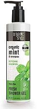 "Parfumuri și produse cosmetice Gel de duș revigorant ""Ploaie de mentă"" - Organic Shop Organic Mint and Lemongrass Fresh Shower Gel"