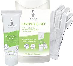 Parfumuri și produse cosmetice Set pentru îngrijirea mâinilor - Bioturm Hand Care Set (cr/50ml + gloves)