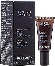 Parfumuri și produse cosmetice Tratament crema filler pentru riduri profunde - Academie Comblement Rides Express Spheres Dacide Hyaluronique