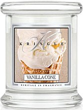 Parfumuri și produse cosmetice Lumânare aromată (pahar) - Kringle Candle Vanilla Cone