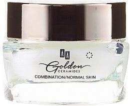 Cremă de zi împotriva ridurilor pentru piele mixtă și normală - AA Cosmetics Golden Ceramides Velvet Anti-wrinkle Day Cream — Imagine N2