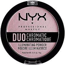 Parfumuri și produse cosmetice Iluminator pentru față - NYX Professional Makeup Duo Chromatic Illuminationg Powder
