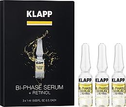 "Parfumuri și produse cosmetice Ser bifazic pentru față ""Retinol"" - Klapp Bi-Phase Serum Retinol"