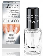 Parfumuri și produse cosmetice Lac transparent - Artdeco All In One Nail Lacquer