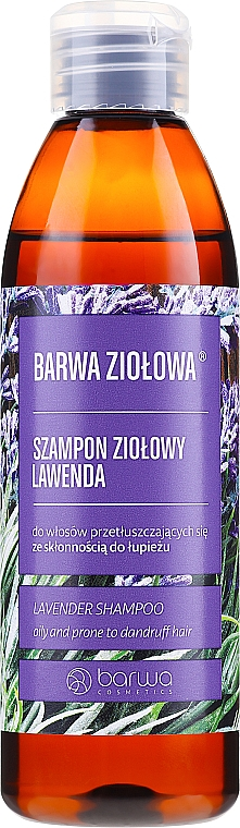 Șampon pentru păr gras și predispus la mătreață - Barwa Herbal Lavender Shampoo