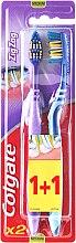 """Parfumuri și produse cosmetice Periuță de dinți """"Zig-Zag"""" medie, violet + albastru - Colgate Zig Zag Plus Medium"""