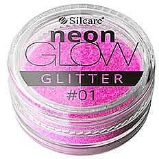 Глиттер для ногтей - Silcare Brokat Neon Glow — фото N1