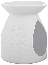 Parfumuri și produse cosmetice Lampă aromaterapie, albă, 10.5x12.5 cm - Yankee Candle Tart Burner Pastel Hues Floral White 2