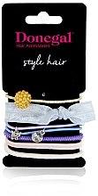 """Parfumuri și produse cosmetice Set elastice de păr """"Darling"""" FA-5535, 7 bucăți - Donegal"""