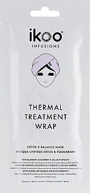 """Mască termică de păr """"Detox și echilibru"""" - Ikoo Infusions Thermal Treatment Wrap — Imagine N1"""