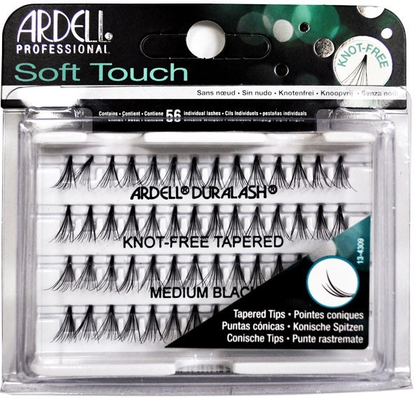 Набор пучковых ресниц - Ardell Soft Touch Duralash Medium Black Tapered Tips — фото N1