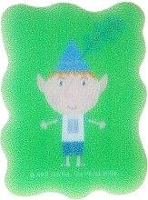 """Parfumuri și produse cosmetice Burete de baie """"Ben și Holly"""", Ben, pentru copii, verde - Suavipiel Ben & Holly"""