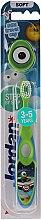 Parfumuri și produse cosmetice Periuță de dinți pentru copii Step 2 (3-5), moale, verde + albastru - Jordan