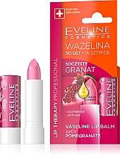 "Parfumuri și produse cosmetice Balsam pentru buze ""Rodie"" - Eveline Cosmetics Lip Therapy Proffesional Vaseline Lip Balm"
