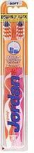 Parfumuri și produse cosmetice Periuțe de dinți, Advanced, moi, oranj+roz - Jordan Advanced Soft Toothbrush