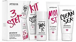 Parfumuri și produse cosmetice Set - Artemis of Switzerland Skinlove 3 Step Daily Routine Kit (face/gel/30ml + face/tonic/30ml + gel/cr/20ml)