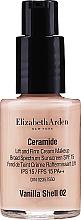 Parfumuri și produse cosmetice Cremă hidratantă pentru față - Elizabeth Arden Ceramide Lift And Firm Cream Makeup Broad Spectrum Sunscreen SPF 15 (tester)