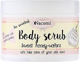 "Parfumuri și produse cosmetice Peeling scrub pentru corp ""Vafe de miere dulce"" - Nacomi Body Scrub Sweet Honey Wafers"