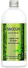 Parfumuri și produse cosmetice Lapte de baie cu argan și avocado - BingoSpa