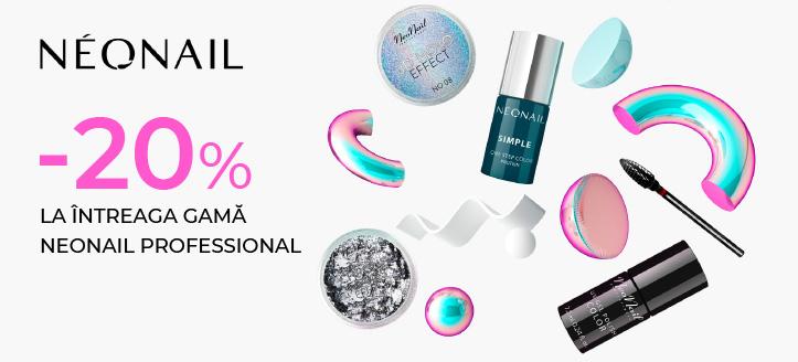 Reducere 20% la întreaga gamă NeoNail Professional. Prețurile indicate pe site sunt deja reduse