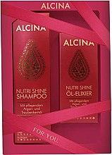 Parfumuri și produse cosmetice Set - Alcina Nutri Shine Set (shm/250ml + elixir/50ml)