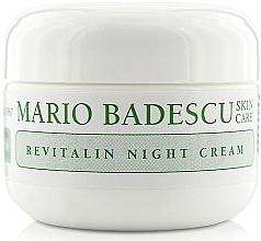 Parfumuri și produse cosmetice Cremă de noapte pentru ten uscat - Mario Badescu Revitalin Night Cream
