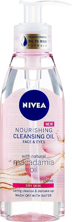 Ulei de curățare pentru pielea uscată - Nivea Nourishing Cleansing Oil Macadamia