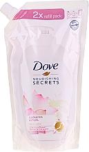 "Parfumuri și produse cosmetice Săpun lichid ""Floare de lotus"" - Dove Nourishing Secrets Glowing Ritual Hand Wash (doypack)"