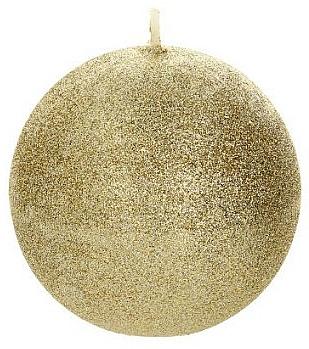 Lumânare decorativă, bilă, aurie, 10 cm - Artman Glamour — Imagine N1