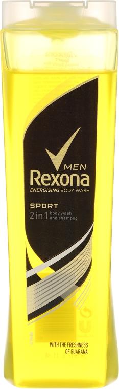 Șampon-gel pentru duș 2in1 - Rexona Men Sport Shower Gel Body & Hair