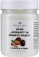 """Parfumuri și produse cosmetice Cremă """"Confort pentru picioare"""" cu castan și nuc - Hristina Cosmetics"""
