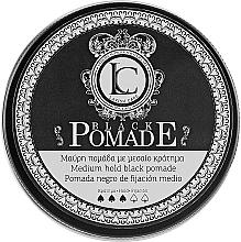 Духи, Парфюмерия, косметика Черная помада для стайлинга волос для мужчин - Lavish Care Black Pomade Medium Hold Black