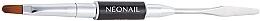Parfumuri și produse cosmetice Pensulă-spatulă 2 în 1 pentru aplicarea polygelului - NeoNail Professional Duo Acrylgel Brush