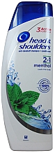 Духи, Парфюмерия, косметика Шампунь для волос - Head & Shoulders Anti-dandruff menthol fresh 2in1 Shampoo