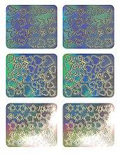Parfumuri și produse cosmetice Nail Art Stickers, 3703 - Neess Patternness