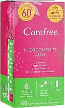 Parfumuri și produse cosmetice Absorbante pentru fiecare zi, 60 bucăți - Carefree Flexi Comfort Aloe Extract