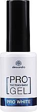 Parfumuri și produse cosmetice Bază de întărire pentru unghii - Alessandro International Protectig Base Gel Pro White