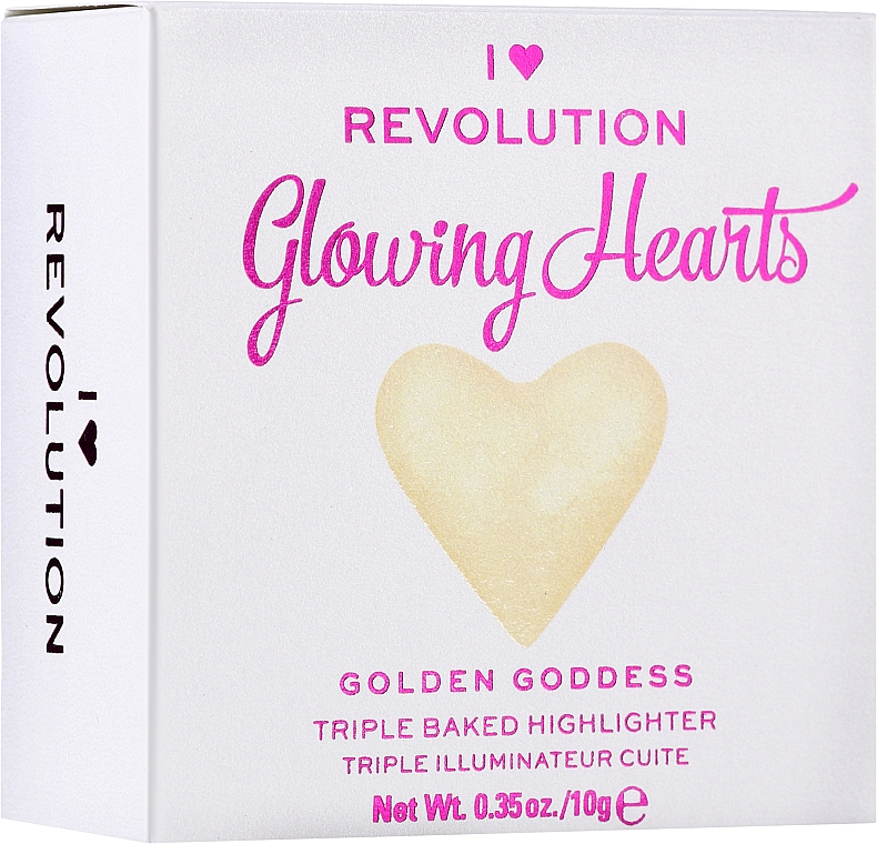 Iluminator pentru față - Makeup Revolution Blushing Hearts Highlighter