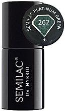 Parfumuri și produse cosmetice Gel lac de unghii - Semilac Platinum UV Hybrid