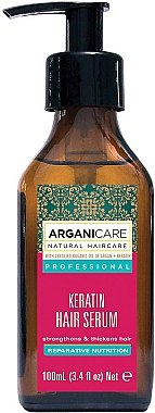 Ser cu keratină pentru păr - Arganicare Keratin Repairing Hair Serum — Imagine N2