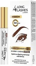 Parfumuri și produse cosmetice Corector pentru sprâncene - Long4Lashes Eyebrow Shaping Corrector with Henna